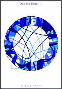 Assiette bleue 1 – Blue plate number 1 – FLK – 2015