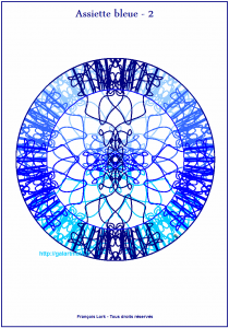 Assiette bleue 2 – Blue plate number 2 – FLK – 2015
