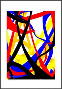 Fonds marins multicolores - FLK - Image numérique - 2015