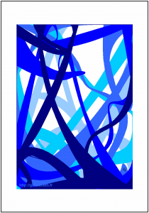 Dégradé de bleu évoquant des fonds marins - FLK - 2015