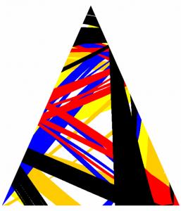 Petit triangle multicolore 1 - FLK - 2016