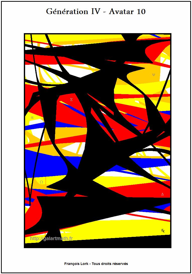 Génération 4 - Avatar 10 - Strates Colorées - Coloured Stratums - FLK - 2015
