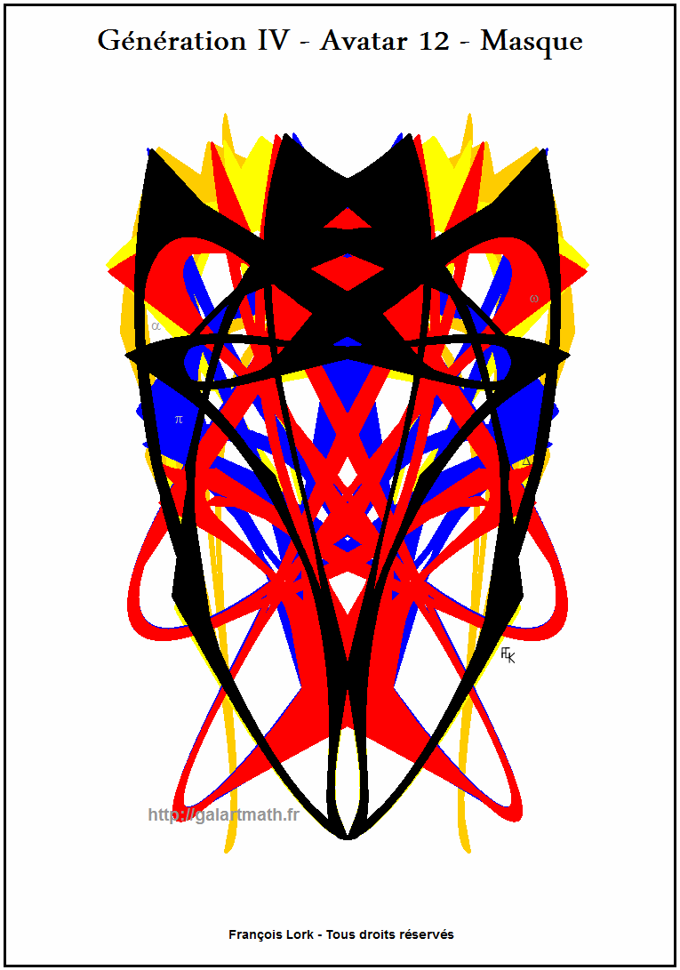 Génération 4 - Avatar 12 - Masque Numériqu - Numerical Mask - FLK - 2015