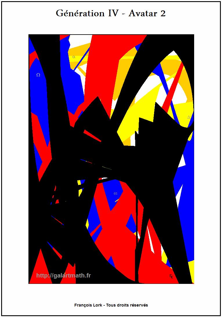 Génération 4 - Avatar 2 Forme Numérique Colorée 1 - Coloured Numerical Shape 1 - FLK - 2015