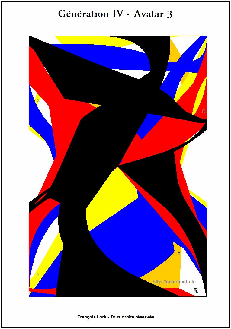Génération 4 - Avatar 3 - Forme Numérique Colorée 2 - Coloured Numerical Shape 2 - FLK - 2015