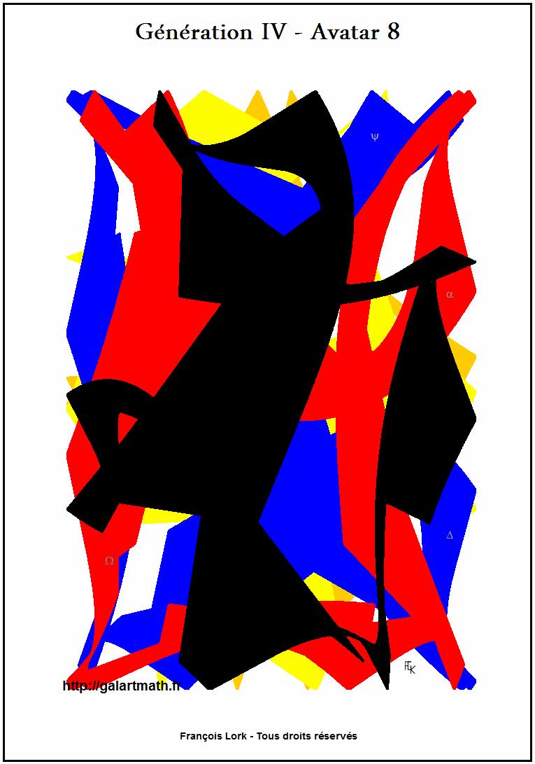Génération 4 - Avatar 8 - Forme Numérique Colorée 3 - Coloured Numerical Shape 3 - FLK - 2015