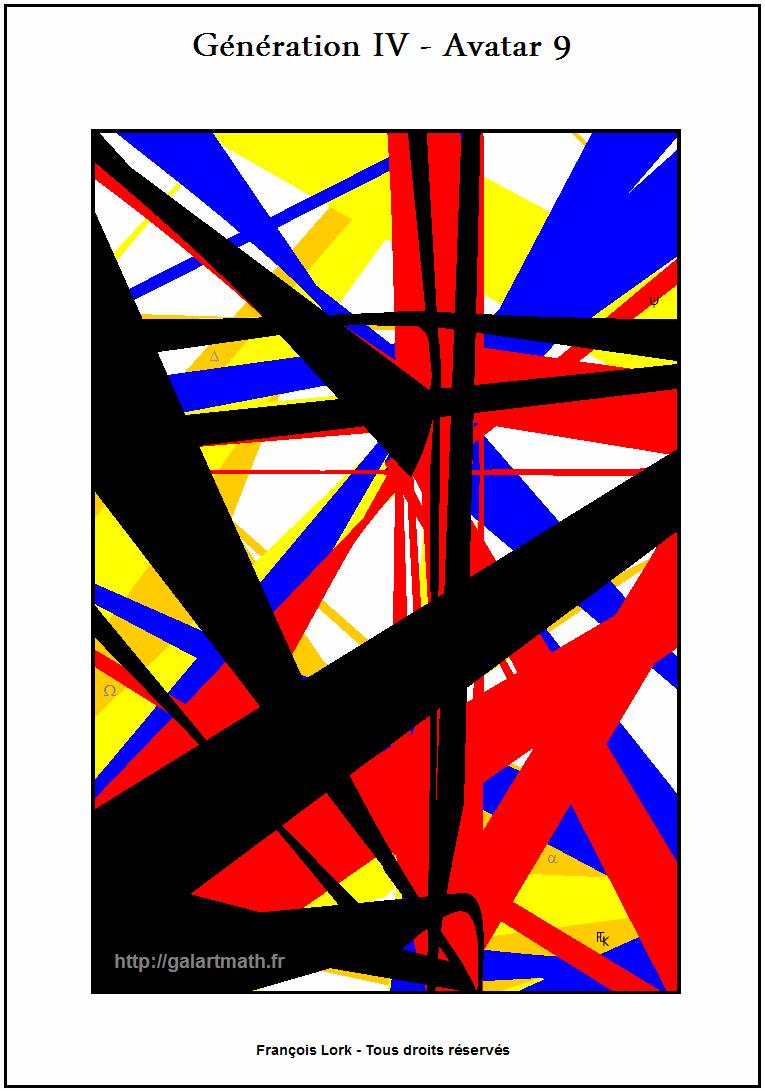 Génération 4 - Avatar 9 - Les Poutres Colorées De La Tour D'acier-the - Coloured Balks Of The Steel Tower - FLK - 2015 - 40x60cm