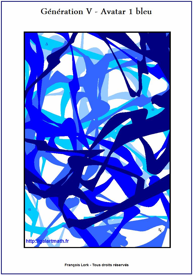 Génération 5 - Avatar 1 - Variation Bleue 1 - Blue Variation 1 - FLK - 2015