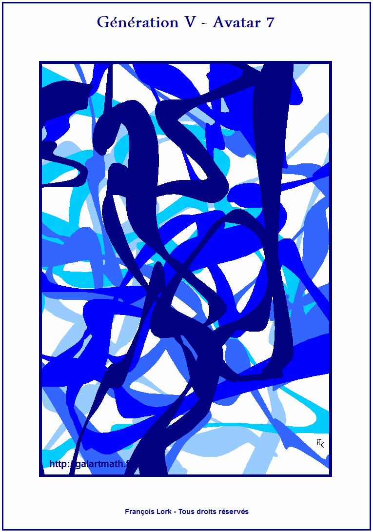Génération 5 - Avatar 7 - Les Algues Bleues 1 - The Blue Seadweeds 1 - FLK - 2015 - 30x40 Cm
