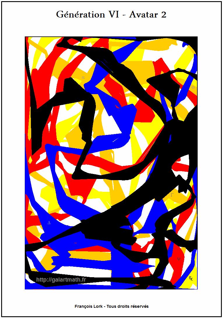 Génération 6 - Avatar 2 - Impression Colorée 2 - Coloured Impression 2 - FLK - 2016