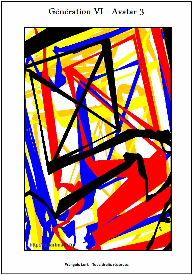 Génération 6 - Avatar 3 - Fenêtre Colorée Inclinée - Tilted Coloured Window - FLK - 2016