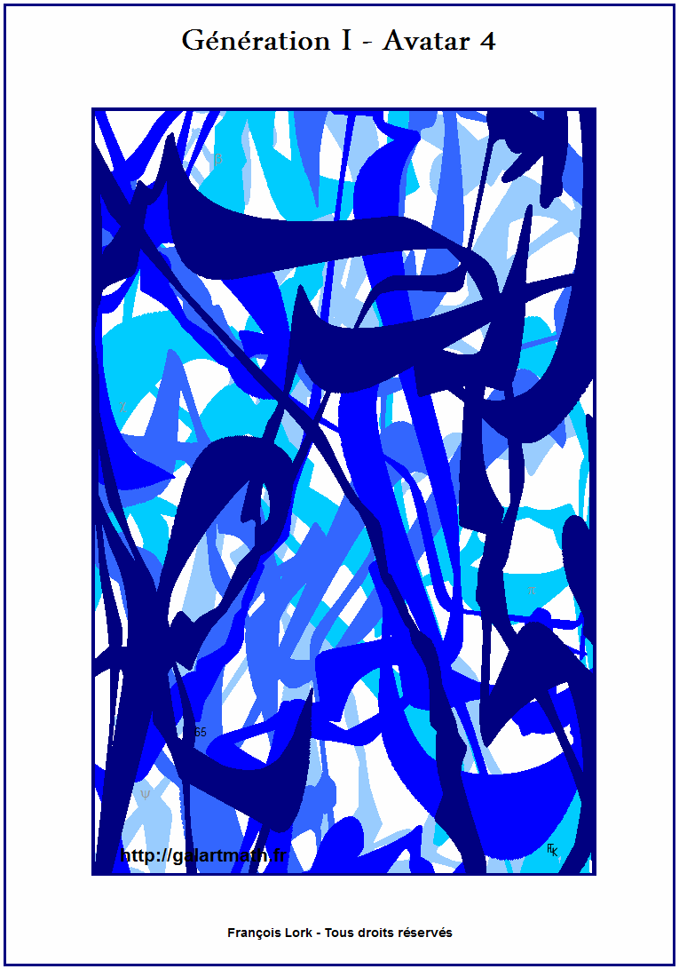 Génération I - Avatar 4 - Algues Bleues 1 - Blue Seaweeds - FLK -2015