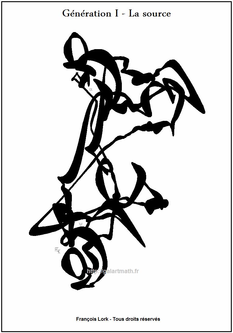 Génération I - La-source - The spring - Calligraphie I -Calligraphy I - FLK - 2011