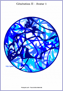Génération II - Avatar 10 - Le tondo bleu-1 - The blue tondo 1- FLK - 2016 - 220€