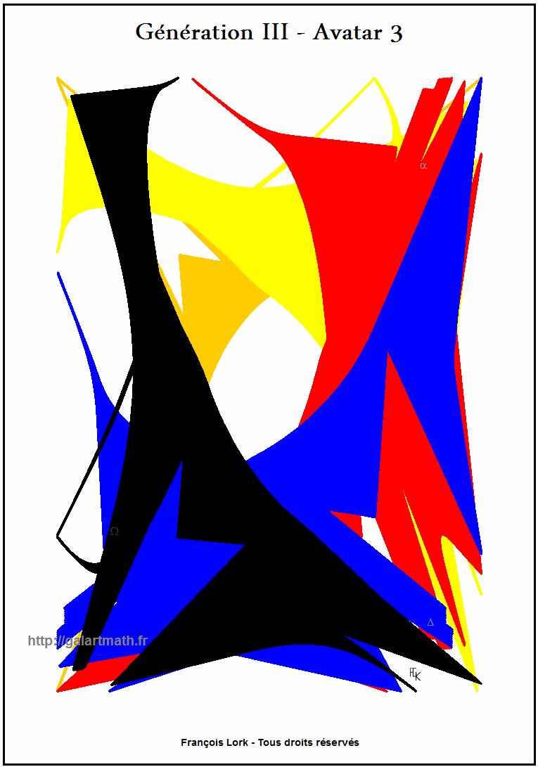 Génération 3 - Avatar 3 - Forme Numerique Colorée 1 - Coloured Numerical Shape 1 - FLK - 2015