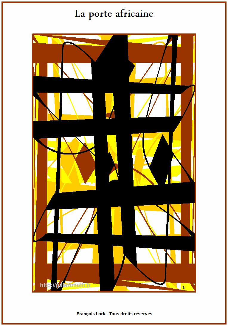 Porte Africaine - African Door - FLK - 2016 - 30x40cm