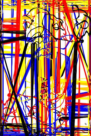 Qu'y-t-il derrière le portail? Image numérique numeric art - 2016