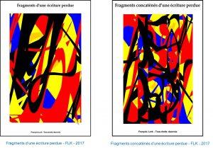 Fragments d'une écriture perdue et image concaténée - FLK - 2017