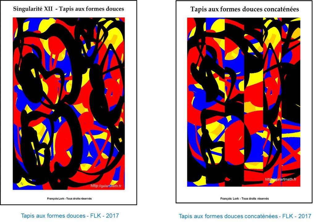 Tapis aux formes douces et image concaténée - FLK - 2017