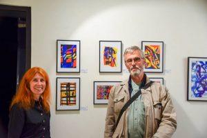 Avec la galeriste Dominique Rémond - exposition 2017 à la galerie ART 'ET MISS