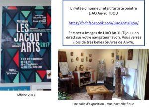 Parthenay - Les Jacqu'arts 2017 - Affiche et invitée d'honneur : artiste peintre LIAO An-Yu TIJOU Parthenay - Les Jacqu'arts 2017 - Vue 1