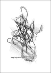 Calligraphie 2 - Image numérique - Numerical picture - FLK 2018