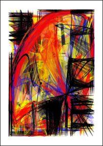 Arc rouge - Digital Art - FLK 2021 - Image numérique - numerical picture