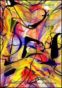 L'abstraction sans titre d'avril 2021 Digital art - FLK 2020 - Image numérique - numerical picture