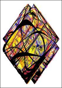 Les deux losanges - Digital art - FLK avril 2021 Image numérique - numerical picture